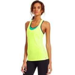 Under Armour Womens Fly By Stretch Mesh Tank Xray1
