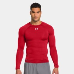 Under Armour HeatGear Sonic Compression Long Sleeve red 1