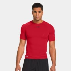 Under Armour HeatGear Sonic Compression Short Sleeve red 1