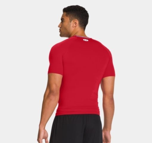 Under Armour HeatGear Sonic Compression Short Sleeve red 2