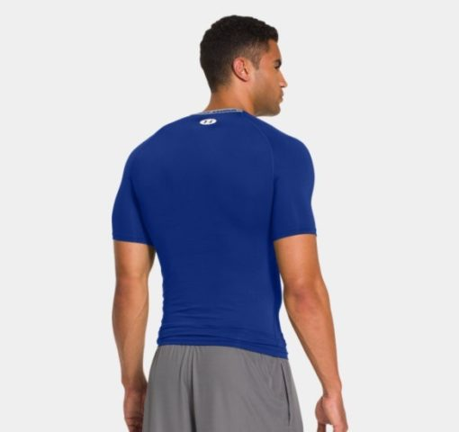 Under Armour HeatGear Sonic Compression Short Sleeve royal blue 2