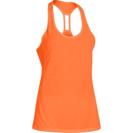 Under Armour Womens Fly By Stretch Mesh Tank citrus blast 3