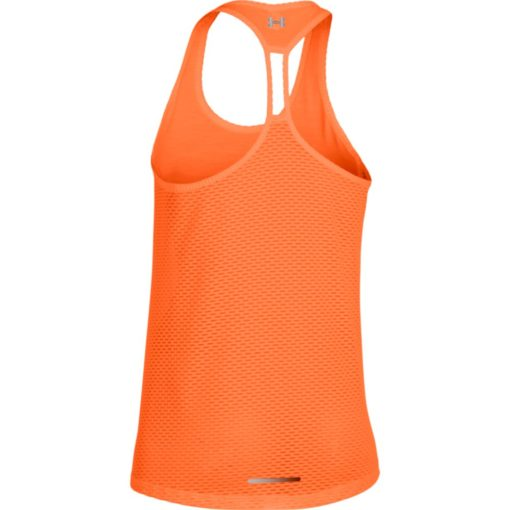 Under Armour Womens Fly By Stretch Mesh Tank citrus blast 4
