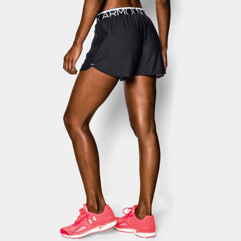 under armour women s play up shorts svart rebelz. Black Bedroom Furniture Sets. Home Design Ideas