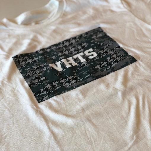 VHTS T shirt Camo Box Logo 1