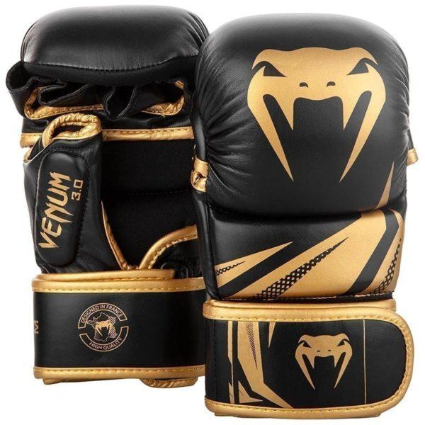 Venum MMA Sparringhandskar Challenger 3 0 svart guld 1