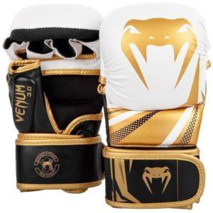 Venum MMA Sparringhandskar Challenger 3 0 vit svart guld 1