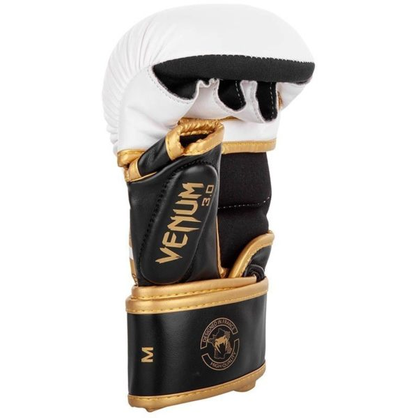 Venum MMA Sparringhandskar Challenger 3 0 vit svart guld 4