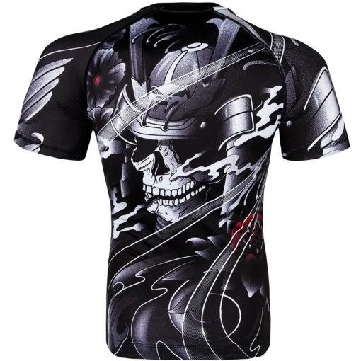 Venum Rashguard Short Sleeve Samurai Skull 3