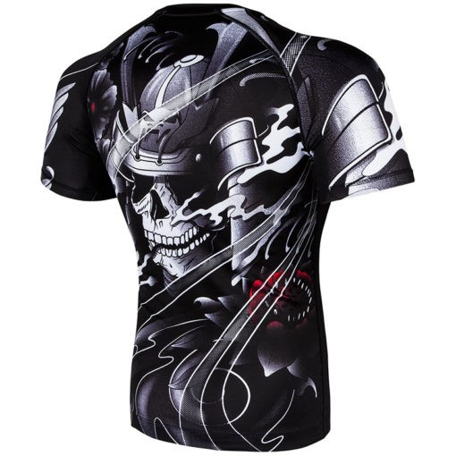 Venum Rashguard Short Sleeve Samurai Skull 4