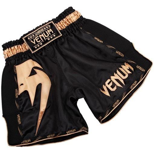 Venum Thaiboxningsshorts Giant svart guld 1