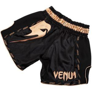 Venum Thaiboxningsshorts Giant svart guld 2