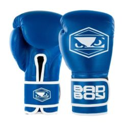 badboy strike boxing gloves black blue 01