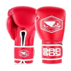 badboy strike boxing gloves black red 01