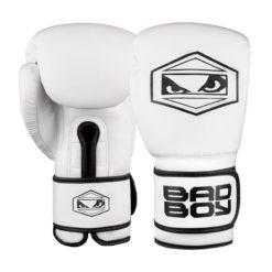 badboy strike boxing gloves black white 01