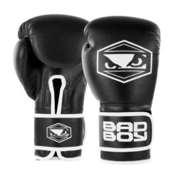badboy strike boxing gloves black white 01 1