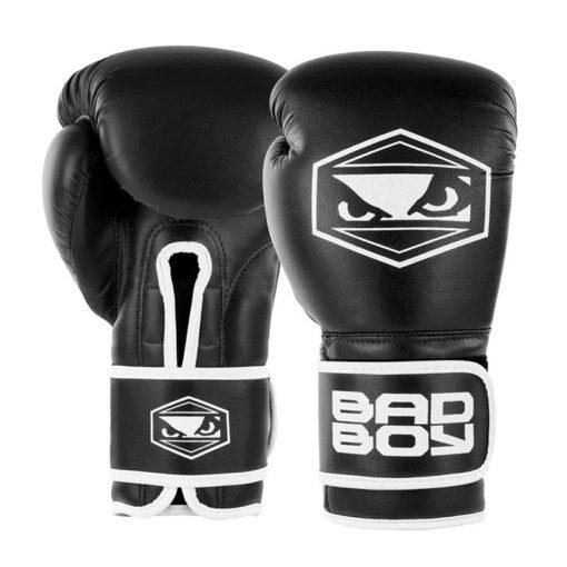 badboy strike boxing gloves black white 01 1