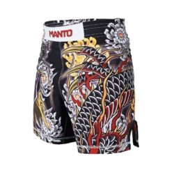 eng pl MANTO X Krazy Bee fight shorts DRAGON black 1217 12