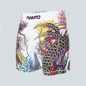 eng pl MANTO X Krazy Bee fight shorts DRAGON white 1218 11