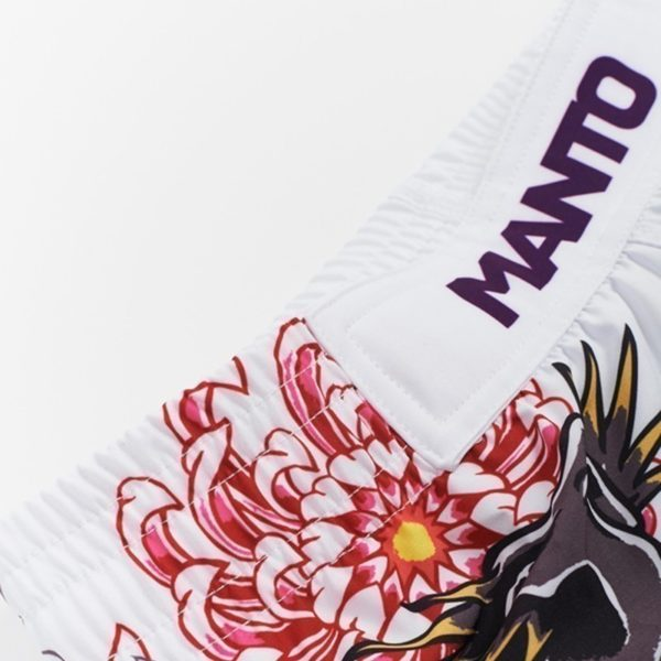 eng pl MANTO X Krazy Bee fight shorts DRAGON white 1218 2