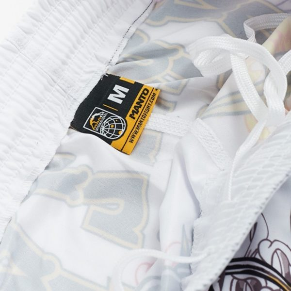 eng pl MANTO X Krazy Bee fight shorts DRAGON white 1218 6