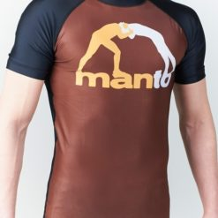 eng pl MANTO short sleeve rashguard CLASSIC brown 1010 4