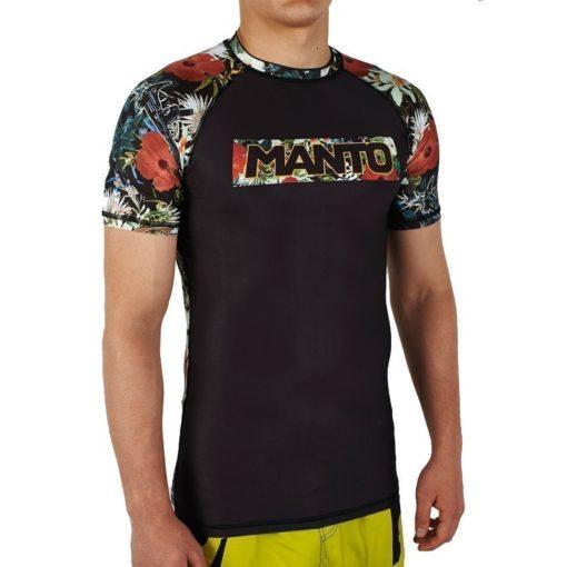 eng pl MANTO short sleeve rashguard FLORAL black 1060 3