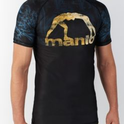 eng pl MANTO short sleeve rashguard GO IN PEACE black 1087 9