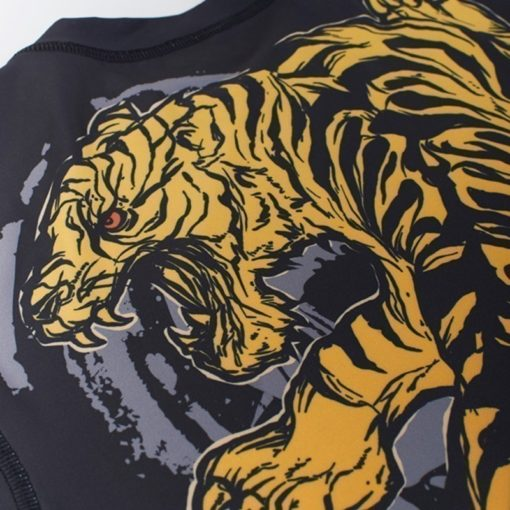eng pl MANTO short sleeve rashguard TIGER black 974 5