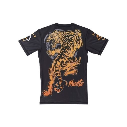 eng pl MANTO short sleeve rashguard TIGER black 974 6