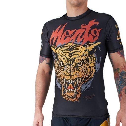 eng pl MANTO short sleeve rashguard TIGER black 974 7