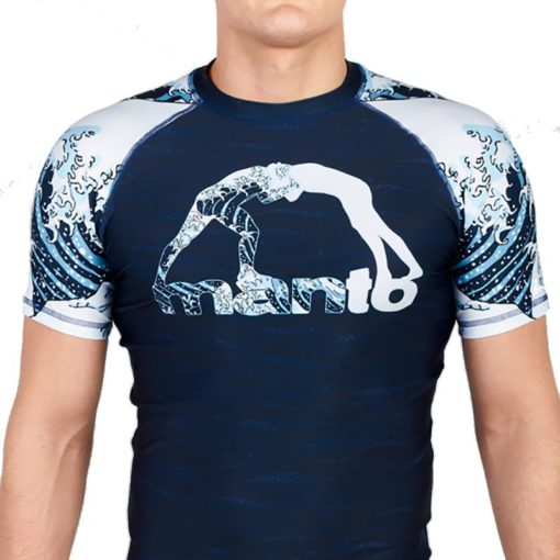 eng pl MANTO short sleeve rashguard WAVES navy blue 1226 3