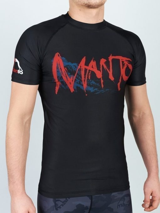 eng pl MANTO short sleeve rashguard WILD black 1185 5