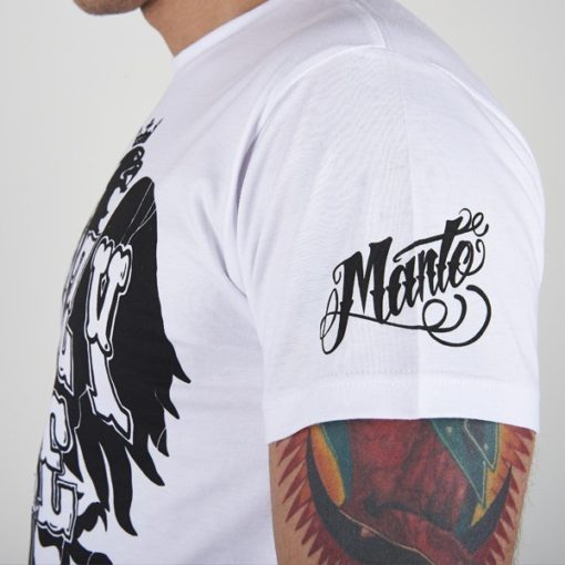 eng pl MANTO t shirt KRAZY BEE white 535 4