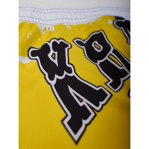 eng pm MANTO fight shorts KRAZY BEE black yellow 729 3