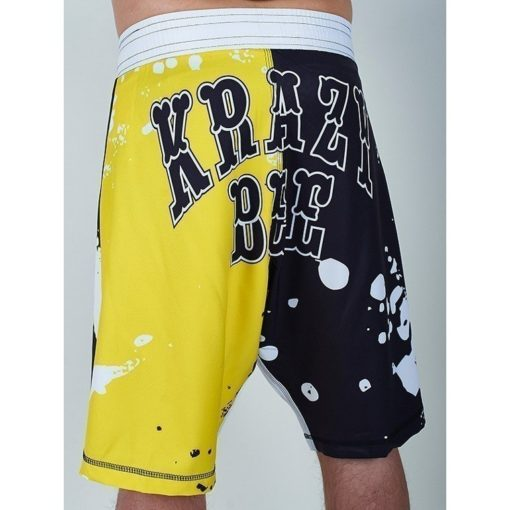 eng pm MANTO fight shorts KRAZY BEE black yellow 729 4