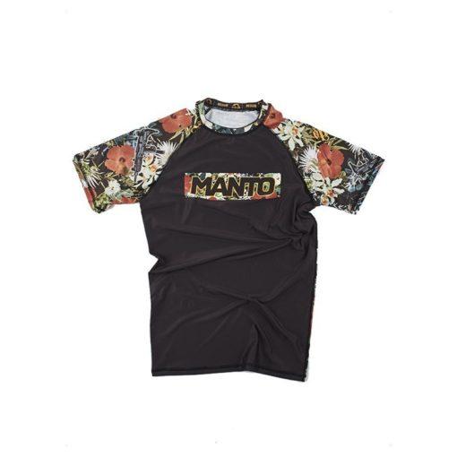 eng pm MANTO short sleeve rashguard FLORAL black 1060 10