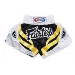 fairtex bs 0615 muay thai black white gold