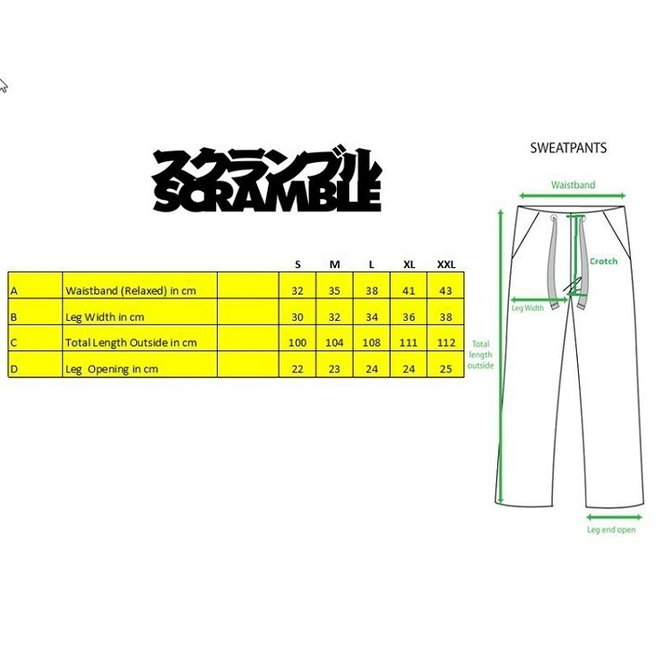 jogger-size-chart