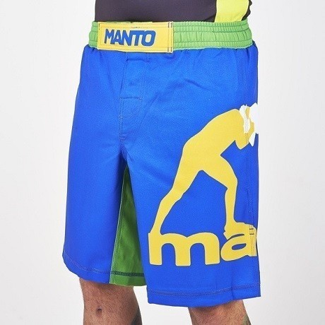 manto fightshorts blue