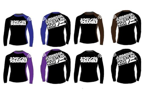 scramble bjj ranked rash guards all colours
