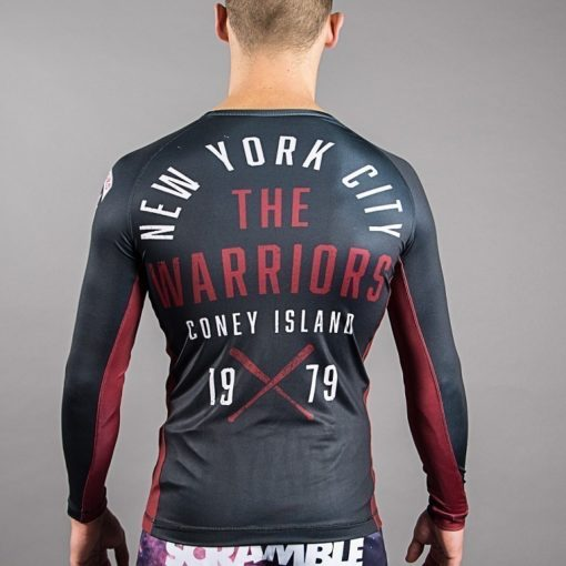 scramble warriors official rash guard back